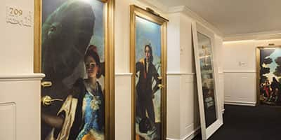 """<b>The """"seventh heaven"""" of Spanish painting</b><br> Art flourishes within the walls of this hotel, where each floor is dedicated to a Spanish painter such as El Greco or Goya."""